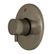 Luxe round volume control with short lever handle.