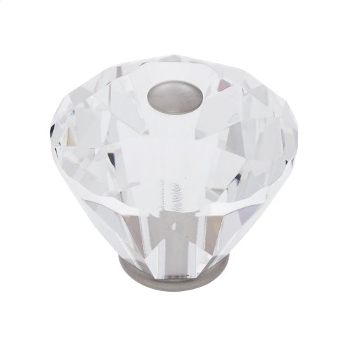 Satin Nickel 40 mm Diamond Cut Knob