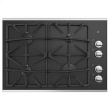 "30"" Built-In Gas on Glass Deep Recessed Stainless Steel Cooktop"