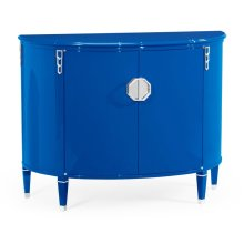 Demilune Royal Blue Storage Cabinet