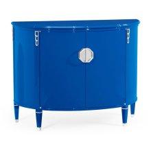 Demilune Royal Blue Storage Cabinet