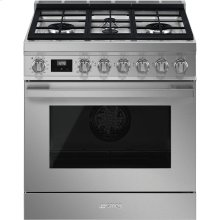 "Portofino Pro-Style Dual Fuel Range, Stainless Steel, 30"" x 25"" *Floor Model Discount*"