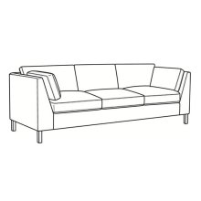 Long Sofa with Nickel Metal Leg