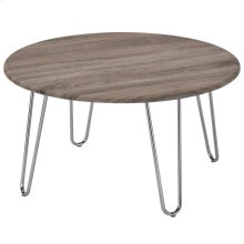 Tario Coffee Table in Driftwood & Chrome
