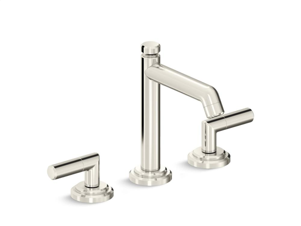 Sink Faucet, Tall Spout, Lever Handles - Nickel Silver