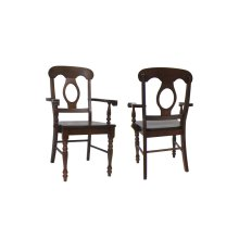 DLU-ADW-C50A-CT-2  Andrews Napoleon Arm Chair  Chestnut  Set of 2