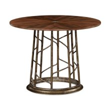 Circular Natural Walnut Continental Table