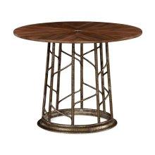 Circular Natural Walnut Continental Table