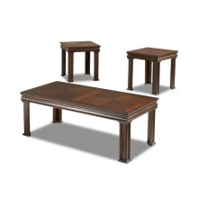 Living Room 3 table pack, 2 end,1 cocktail 206-001 3PAK