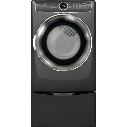 LOANER MODEL Front Load Perfect Steam Electric Dryer with PredictiveDry and Instant Refresh - 8.0. Cu. Ft.