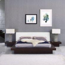 Freja 3 Piece Queen Vinyl Bedroom Set in Cappuccino White