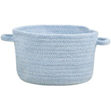 Lt. Blue Chenille Creations Basket