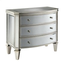 Carrigan 3-drawer Bow-front Mirrored Chest