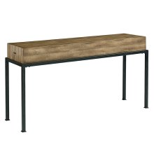 Salvage Butcher Block Console Table