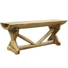 BALI CONSOLE TABLE- SMALL  Natural Finish on East Indian Walnut Wood