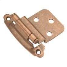 Surface Self-Closing 3/8 In. Inset Hinge (2-Pack)