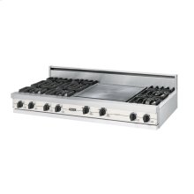"Cotton White 60"" Open Burner Rangetop - VGRT (60"" wide, six burners 24"" griddle/simmer plate)"
