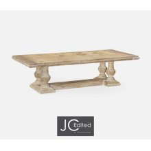 "110"" Limed Acacia Dining Table"