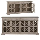 Hawthorne Estate 2 Drawer 4 Door Fretwork Sideboard Brushed Wheat Finish Product Image
