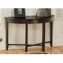 Demilune Half Round Sofa Table with Shelf