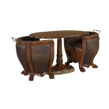 GAMESMAN OCCASIONAL TABLE WITH UPHOLSTERED CHAIRS