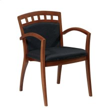 Leg Chair With Upholstered Back & Satin Cherry Finish