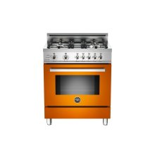 30 4-Burner, Electric Self-Clean Oven Orange