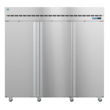 R3A-FS, Refrigerator, Three Section Upright, Full Stainless Doors with Lock