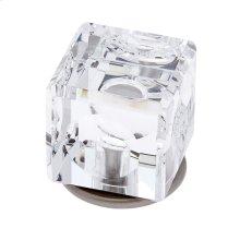 Satin Nickel 30 mm Square Crystal Knob