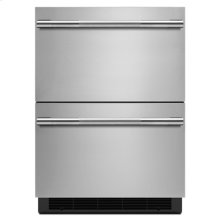 "RISE 24"" Double-Refrigerator Drawers"