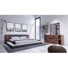 Nova Domus Jagger Modern Dark Grey & Walnut Bedroom Set