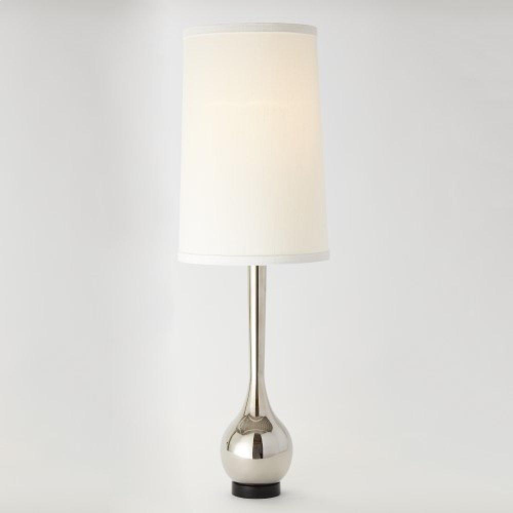 Bulb Vase Table Lamp-Nickel