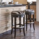Zebrano Swivel Barstool - Backless Product Image