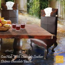Wooden Cowhide Chair
