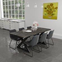 Zax/Calvin 7pc Dining Set, Charcoal