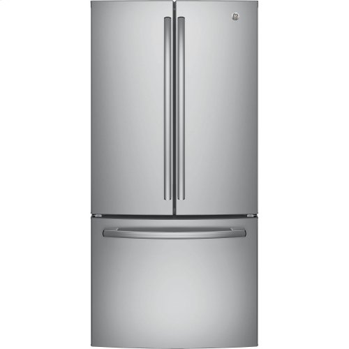 GE® ENERGY STAR® 18.6 CU.FT. COUNTER DEPTH FRENCH DOOR REFRIGERATOR W/ FACTORY INSTALLED ICEMAKER