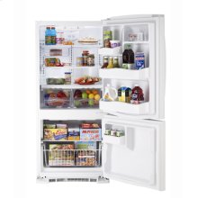 MBR20DTEWW - White on White Moffat 20.2 Cu. Ft. Bottom-Freezer Refrigerator
