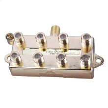 8-Way Signal Splitter with Built-In Grounding Block