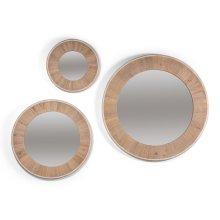 Circular Wood Mirror, Small