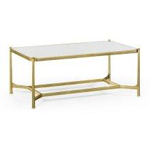 Antique Mirror & Gilded Rectangular Coffee Table
