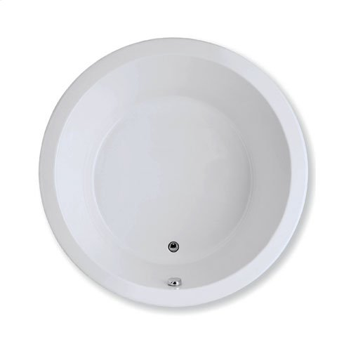 """Easy-Clean High Gloss Acrylic Surface, Circle, AirMasseur® Bathtub, Premiere Package, 60"""" X 60"""""""