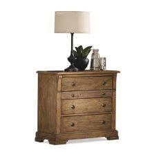 Sherborne Three Drawer Nightstand Toasted Pecan finish
