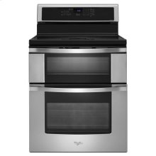 Whirlpool® 6.7 Total cu. ft. Double Oven Electric Range with Induction Cooktop - Stainless Steel FLOOR MODEL