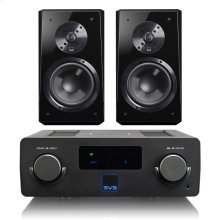 Prime Wireless SoundBase - SoundBase with Ultra Bookshelf / Black Oak Veneer