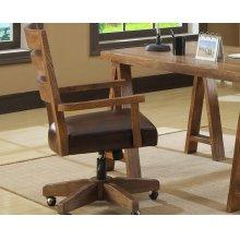 Arm Chair With Castors Bonded Leath