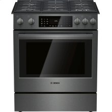 800 Series Gas Slide-in Range 30'' Black stainless steel