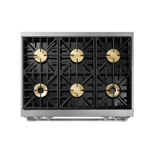 """36"""" Heritage Dual Fuel Pro Range, DacorMatch, Natural Gas"""