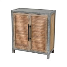 Badlands Drifted Oak with Aged Iron 2-Door Wood and Metal Chest