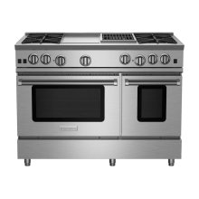 """48"""" RNB Series Range with 12"""" Griddle & Charbroiler"""