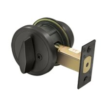 "Single Deadbolt GR2 w/ 2-3/4"" Backset - Oil-rubbed Bronze"